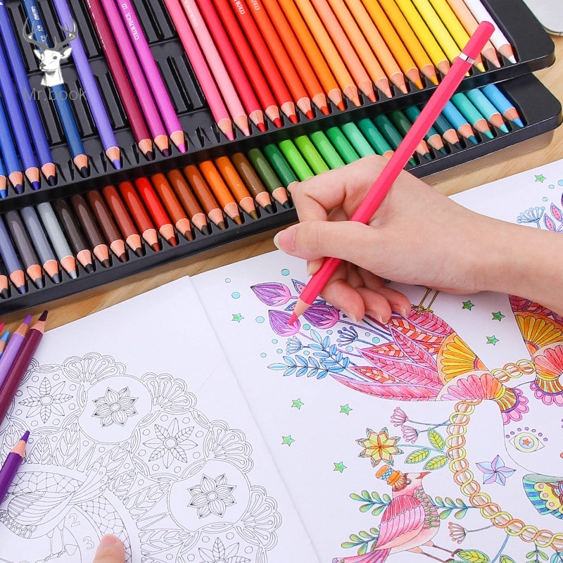48/72/120/160 Colors Wood Colored Pencils Set Artist Painting 1