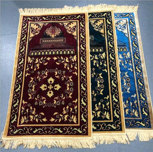 Prayer Rug User Say: Travel Rug Islamic Religious Worship Blanket Red/blue