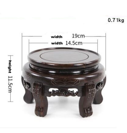 Wooden Flower Stand with High Foot Base Flower Pot Base Fish Tank Base Stone Crafts