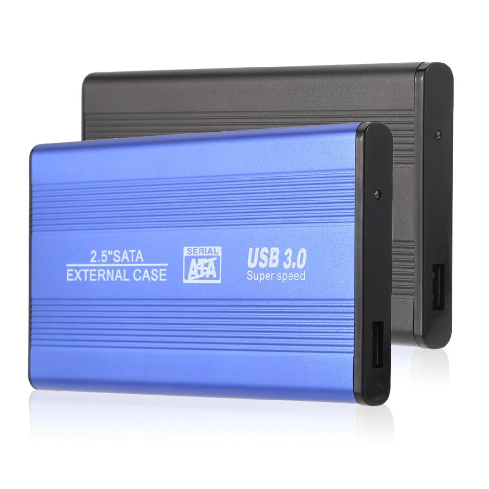 "Superspeed USB 3.0 HDD SSD SATA External Aluminum 2.5"" Hard Drive Disk Box Enclosure Case up to 1TB 2.5"" SATA external case|sata external case|external case|usb 3.0 hdd - title="