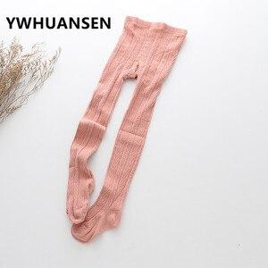 YWHUANSEN/осенне-зимние детские колготки для девочек, хлопковые колготки для девочек, теплые детские колготки для танцев, Collant Enfant, новинка 2017 года