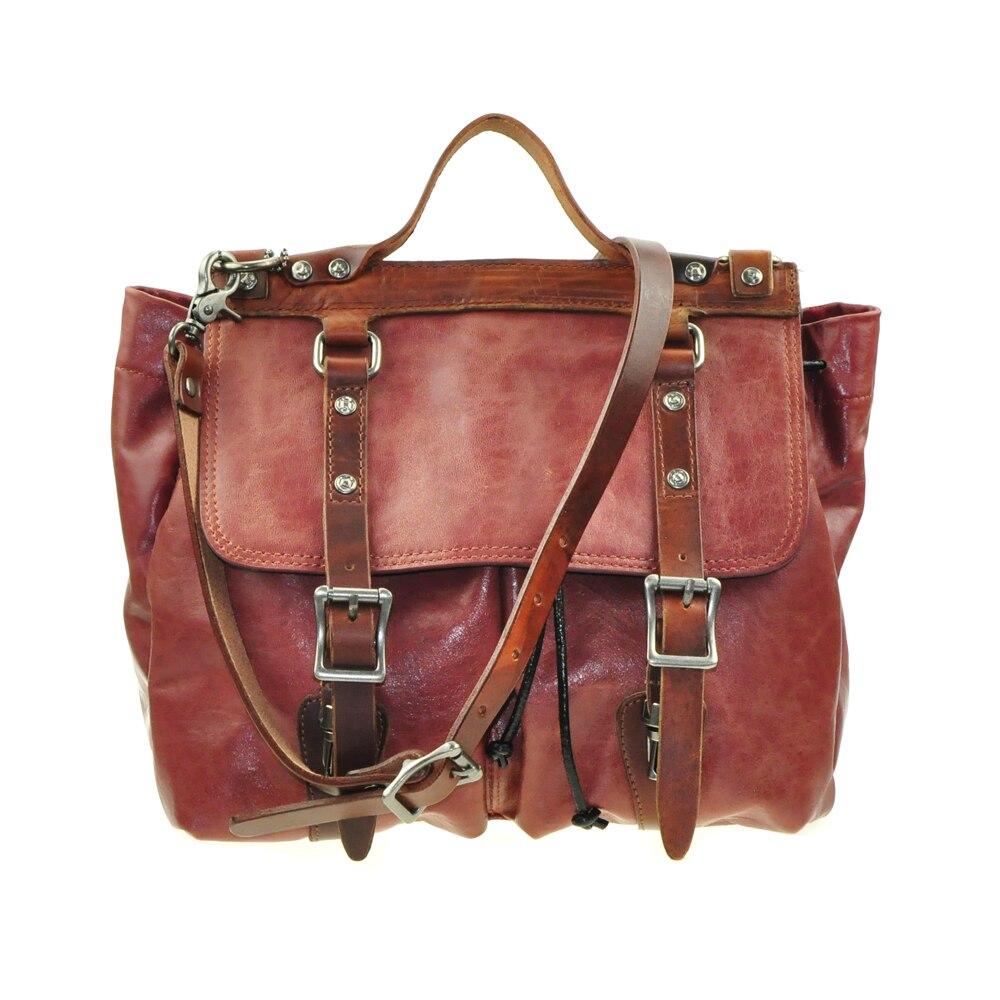 A-Pocket Full Grain Genuine Cow Leather Backpack Crossbody Messager HandBag Women Bags Handbags a pocket full of rye