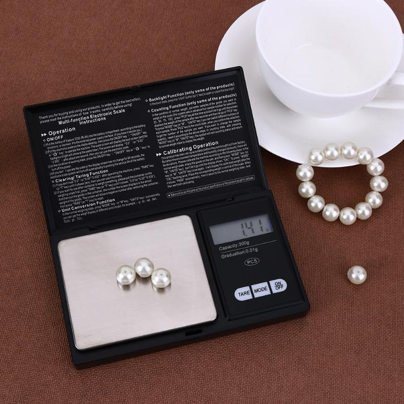 LED Scale 300g x 0.01g 500g x 0.1g LED Luminous Pocket Electronic Scale High Precision Jewelry Gold Gram Weight Scale Balance 500g x 0 01g scale electronic pocket precision balance quality digital scales jewelry gold gram balance weighting scale