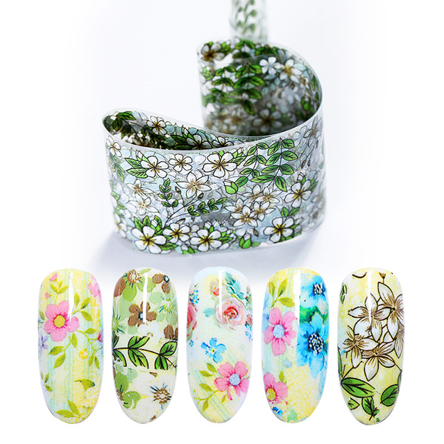 Nail Foils Mixed Flower Design