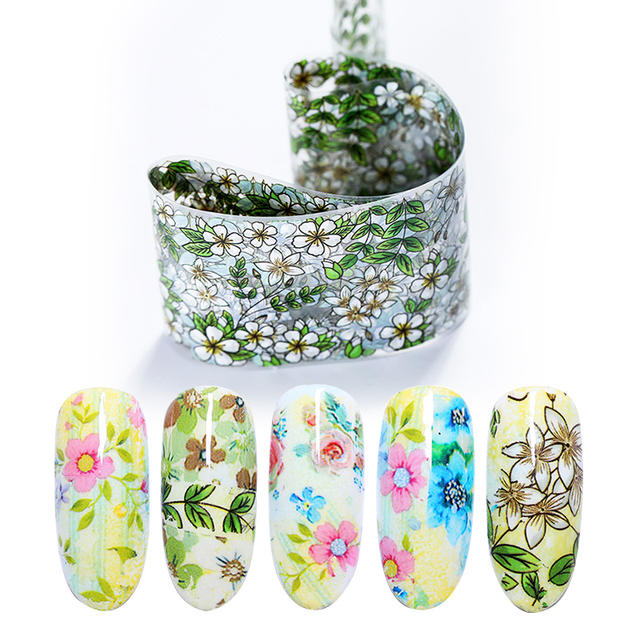 Nail Foils Mixed Flower Design