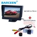 "Especial del coche aparcamiento sistema de 4.3 ""pantalla del monitor del coche + ir luces uso posterior del coche cámara especial para AUDI A6L 2009 ~ 2011/A4/A3/Q7/S5"