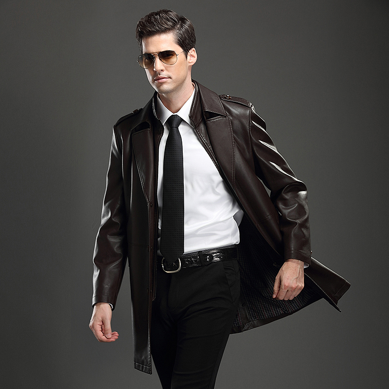 Mens Leather Suit Jacket - Jacket