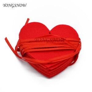 Image 4 - 5 مجموعات (80 قطعة) 2 حجم القلب جارلاند مع 3m حبل حلية لتقوم بها بنفسك الستار ورأى غير المنسوجة للمنزل حفل زفاف عيد الحب الديكور