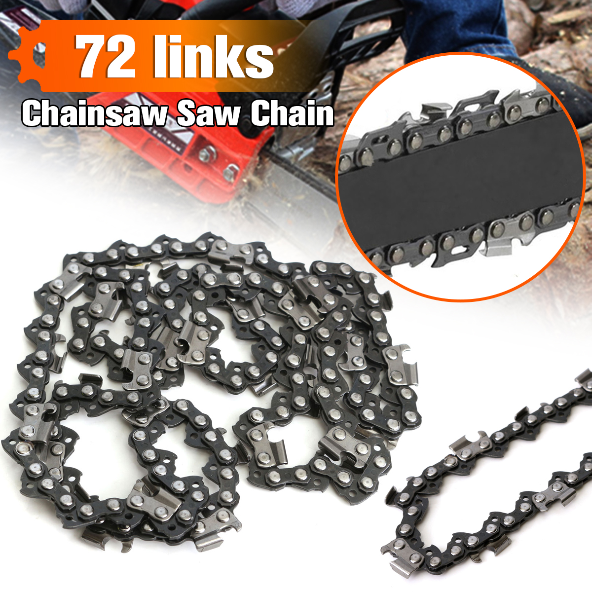 Doersupp 72 Link Chainsaw Saw Chain MetalFits For Chinese Import 4500 & 5200 etc for Use on Portable Chain Saw Mills Smooth image