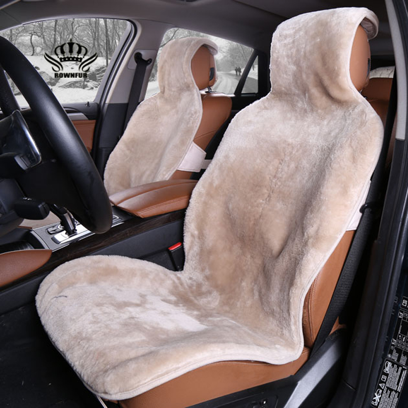 KOPOHA MEX fur Car Seat Covers Natural Australian sheepskin wool cushion winter new plush car pad