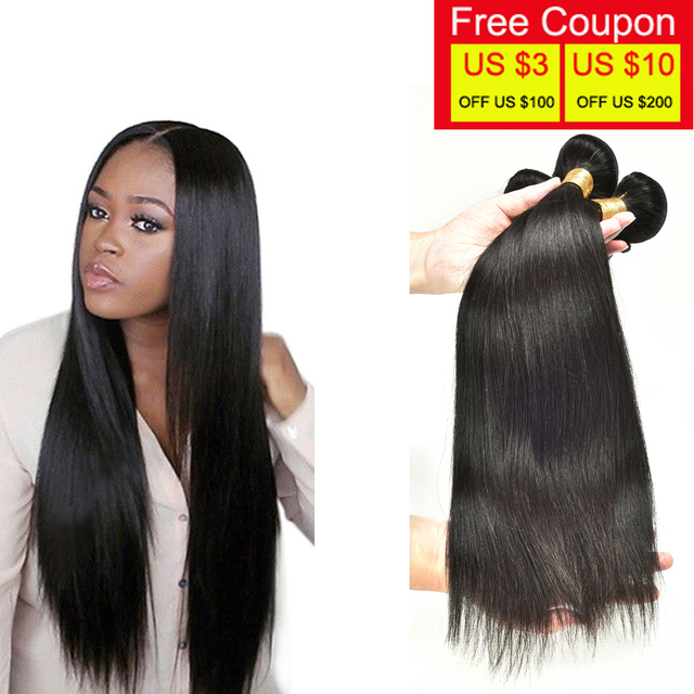 Maxglam Hair Brazilian Virgin Straight Top Quality Human Wigs 3 Bundles Beauty Forever