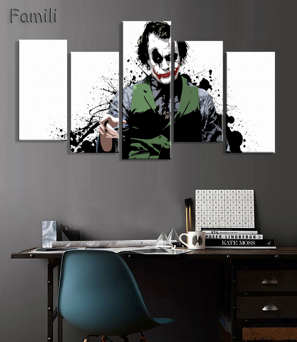 Batman printed wall art room decor on canvas mavel batman printed wall art room decor on canvas amipublicfo Image collections