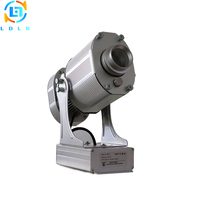Advertising Silver 40W LED Gobo Projector Waterproof Rustproof 4500lm Rotary and Static Images LED Company Logo Image Projector