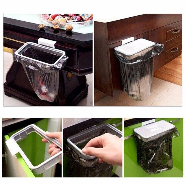 Kitchen Hanger Trash Storage Rack Trash Bag Trash Bag Holder Cupboard  Cabinet Tailgate Stand Storage Garbage