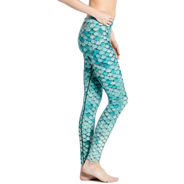 Fitness Leggings For Women Girls Scales Style Long Pants Push Up Active Trousers Workout Dancing Fitness Leggings  Capris