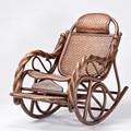 Natural Rattan Handmade Rocking Armchair Rattan Wicker Furniture Design Modern Outdoor Patio Garden Rocking Chair Dark Brown