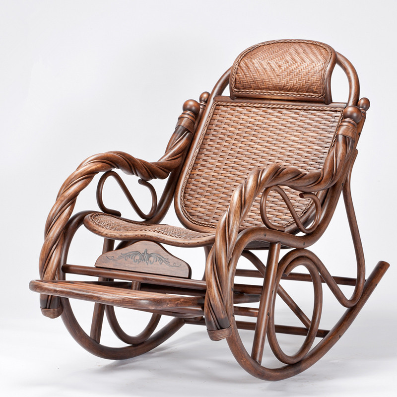 34. ... Wicker Rocking Chairs Creative Chair Designs Black Wicker Rocking