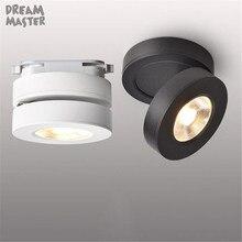 Современный ультра-тонкий светодиодный светильник, 3 Вт 5 Вт 7 Вт поверхностное крепление Точечный светильник s, промышленный Черный Белый Регулируемый светодиодный рельсовый светильник ing store