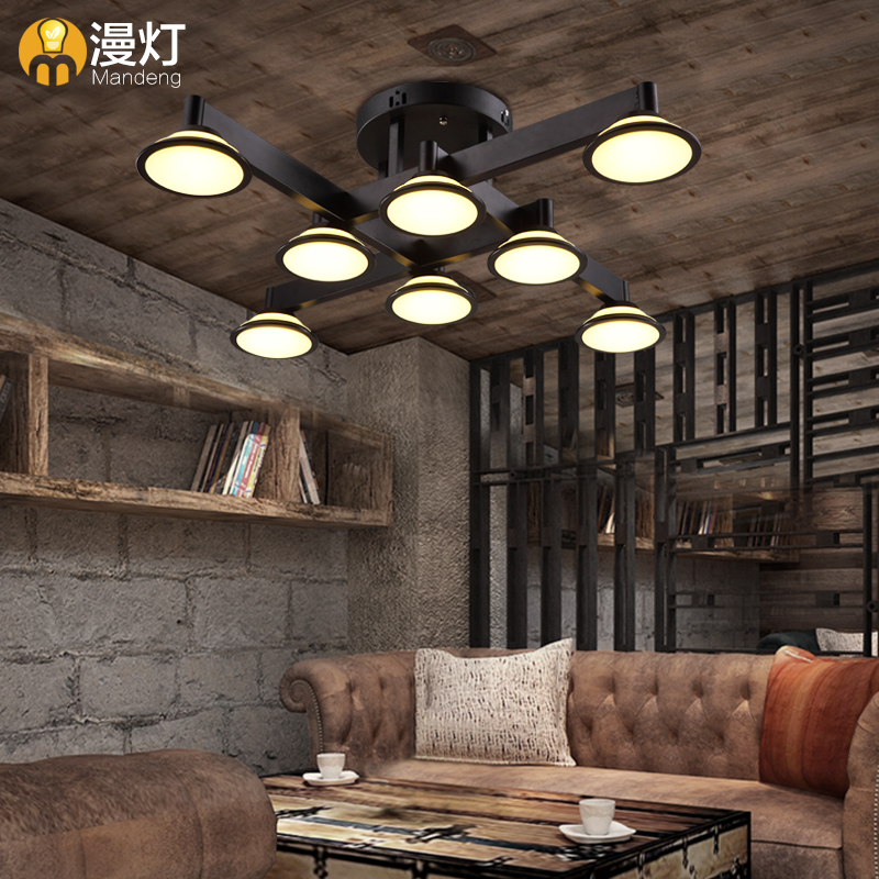 Diffuse Light American Style Rural Simple Retro Living Room Ceiling Lamp Bar Personality Bedroom
