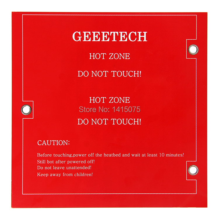 Geeetech Mini Square PCB Heatbed 2 Layers 152*152*1.6mm For Reprap 3D Printer Me Creator