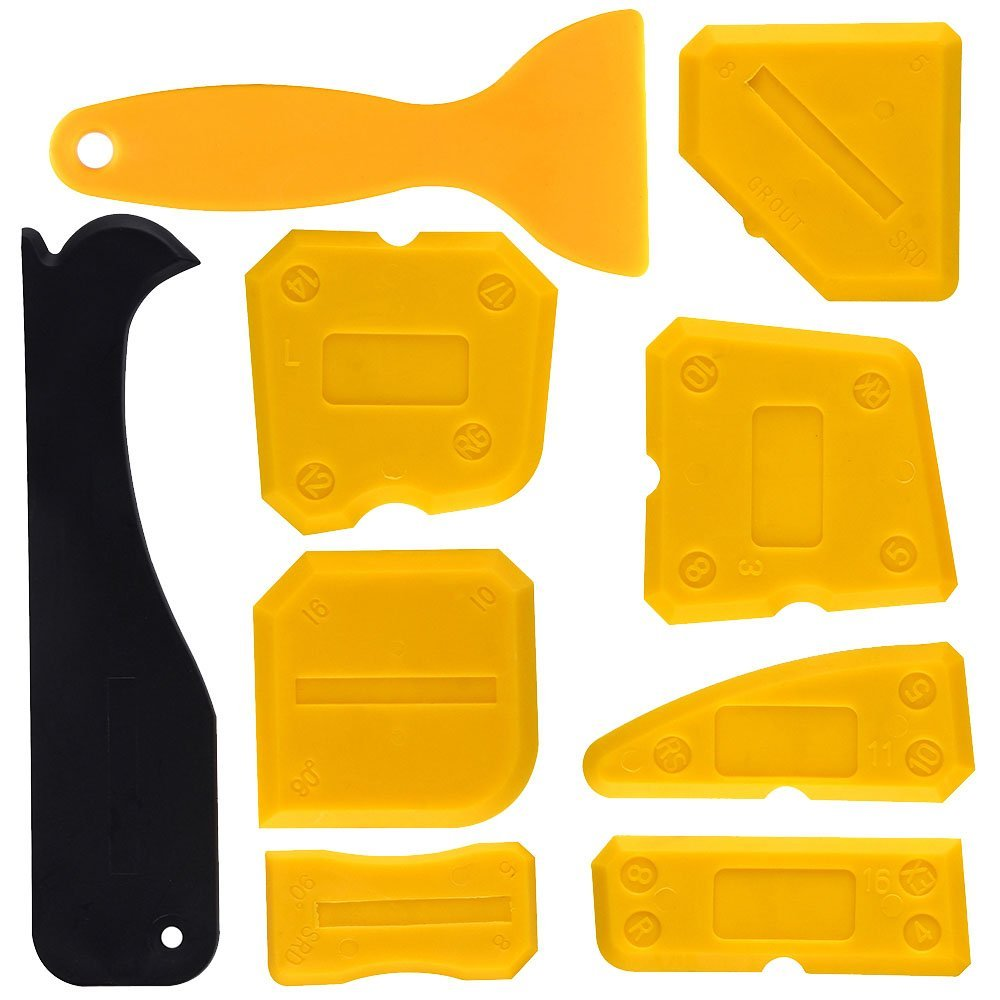 Silicone Sealant Scraper Smoothing Tool Caulking Tool Kit Grout Finishing Tools For Bathroom Kitchen Room Set Of 9