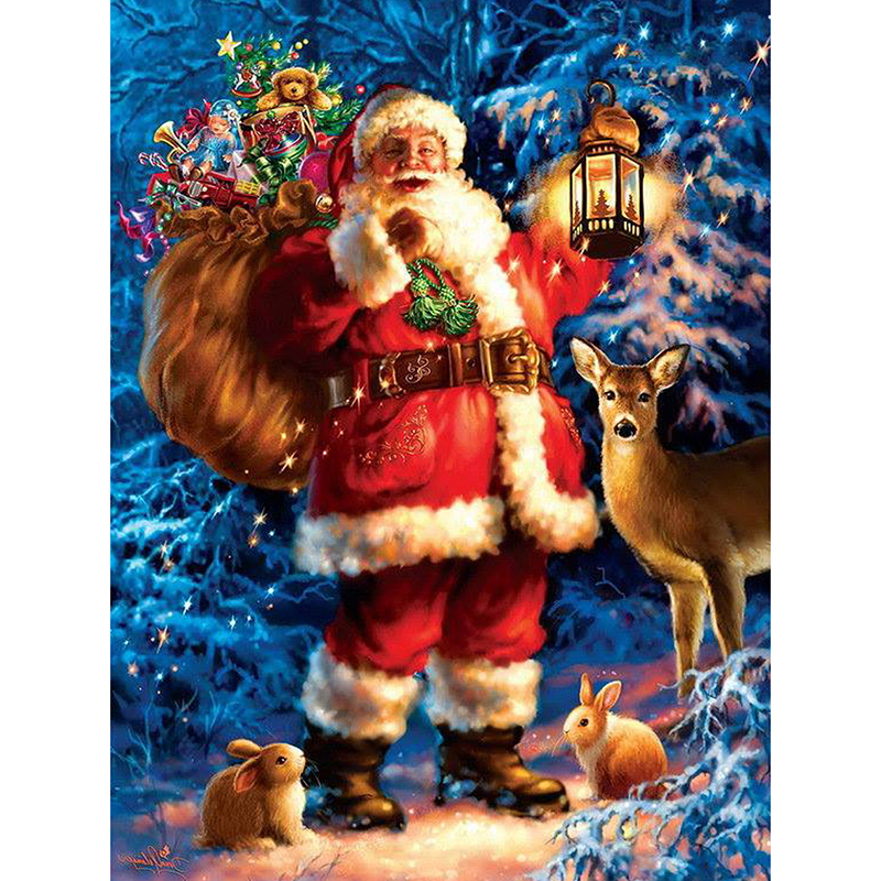 5d diy diamond painting santa claus gifts for children cross stitch wall sticker full square christmas diamond embroidery crafts in diamond painting cross - Santa Claus Gifts