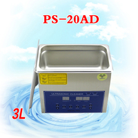 1PC 110V/220V PS 20AD 3L Ultrasonic cleaning machines circuit board parts laboratory cleaner/electronic products etc
