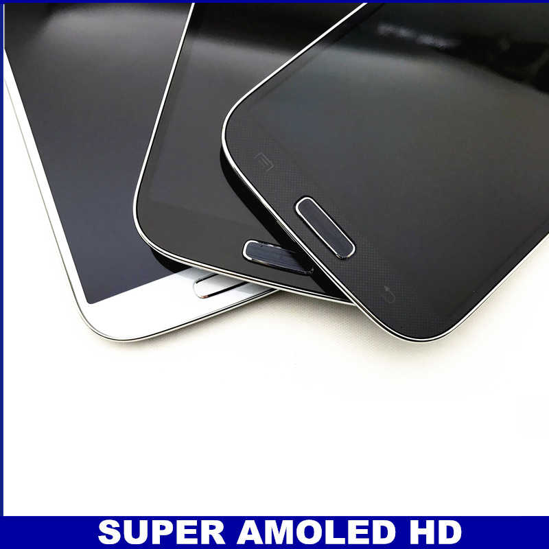كامل محول الأرقام مع الإطار شاشات LCD لسامسونج غالاكسي SIV S4 i9500 الهاتف AMOLED شاشة إل سي دي باللمس شاشة قطعة بديلة لمستشعر الزجاج