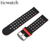 20mm universel remplacement silicone montre Bracelet Bracelet double couleur pour Ticwatch 2 pour Xiaomi Huami Amazfit Bip