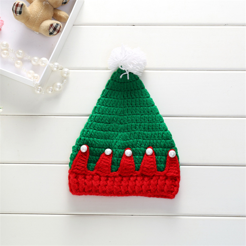 Christmas Baby Hat Winter Warm Knitted Crochet Cap Xmas Tree Bebe Boy Girl Bonnet Beanie Santa Gift Accessories