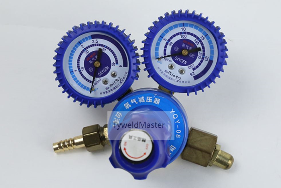 Oxygen Regulator Rubber Protected Oxygen Gas Regulator for Welding&Cutting Application Connection Inlet G5/8 Outlet M16*1.5  yy08 oxygen regulator oxygen table three months warranty