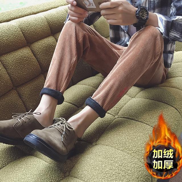 2016 nueva venta caliente engrosamiento de invierno, además de terciopelo marea Japonesa pantalones Harlan pies pantalones de los hombres flojos de gran tamaño ocasional de los hombres pantalones