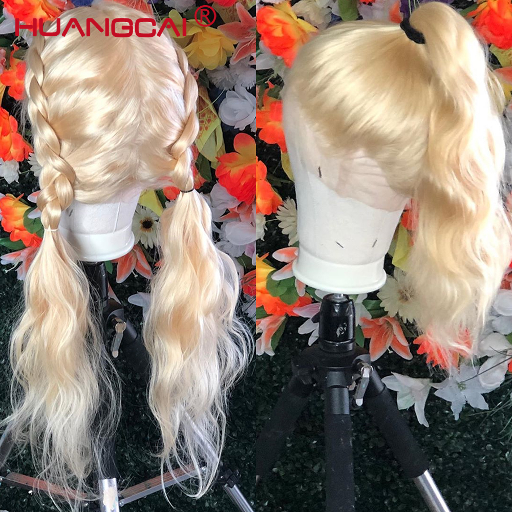 Image 3 - 613 Blonde Lace Front Human Hair Wig Peruvian Body Wave Lace Front Wig Pre Plucked 13*4 Glueless 613 Lace Wigs Remy Hair-in Human Hair Lace Wigs from Hair Extensions & Wigs