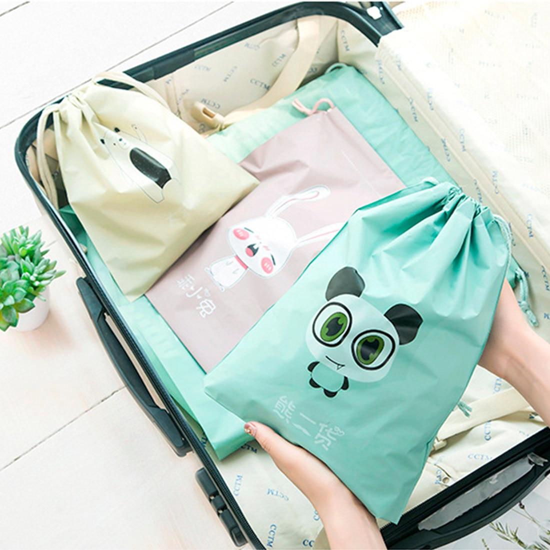 Portable Printing Drawstring Bag Beam Port Storage Shopping Travel Handbag Xmas Gift Bags in Drawstring Bags from Luggage Bags