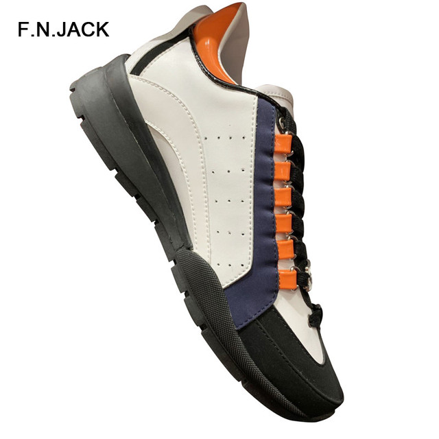 F.N.JACK Mens' New Fashion Sneakers Sport Shoes For Male Mix Colors Spring Autumn Man Shoes Casual Lace-up Shoe