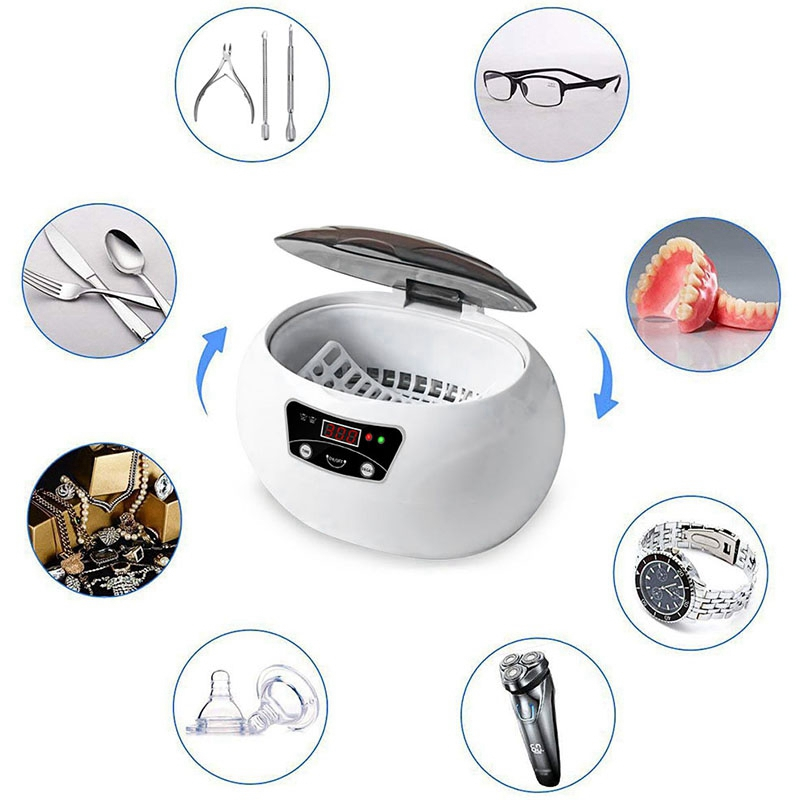 600Ml Ultrasonic Cleaner Bath Timer For Jewelry Parts Glasses Manicure Stones Cutters Dental Razor Brush Ultrasound Sonic-Eu P600Ml Ultrasonic Cleaner Bath Timer For Jewelry Parts Glasses Manicure Stones Cutters Dental Razor Brush Ultrasound Sonic-Eu P
