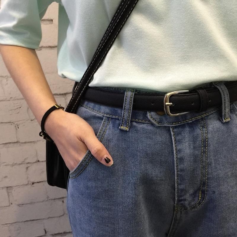 Cinturón negro para mujer casual del todo fósforo de la hebilla de - Accesorios para la ropa