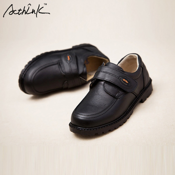 ActhInK New Kids Genuine Leather Wedding Dress Shoes for Boys Brand Children Black Wedding Shoes Boys