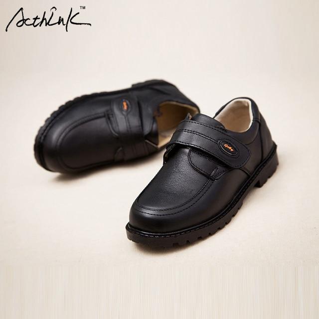 acthink nuevos niños cuero auténtico vestido zapatos para niños