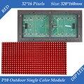 320*160 мм 32*16 пикселей P10 Открытый красный светодиодный модуль для одного красный цвет P10 привело сообщение модуль дисплея