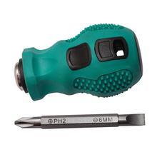 цена на screwdriver set Dual-purpose Slotted Cross Stubby Screwdriver Magnetic Short Repair Hand Tool hot