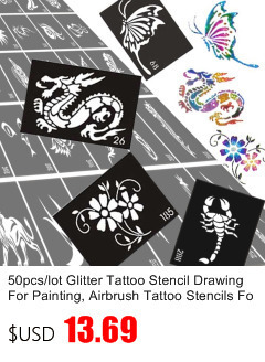 50pcs/lot Black Arabic Tattoos Women Arm Designs,Beautiful Flower Butterfly Waterproof Fake Temporary Tattoo Stickers Wholesale 34
