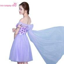 Off shoulder short bridemaids dresses