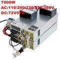 7000W 72V power supply 72V 97A 0-5V analog signal control 0-72V adjustable power supply 72V 7000W AC to DC ON/OFF High-Power PSU