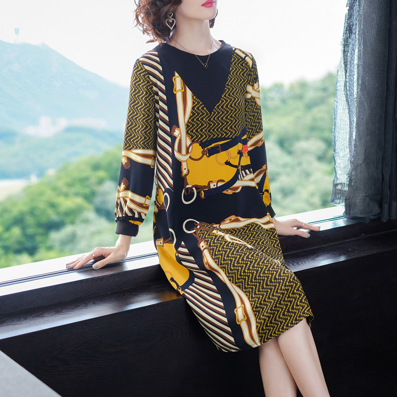 Vestidos vintage 50 s 60 women runway dress 2019 high quality Plus size large elegant long sleeve midi dresses spring clothes
