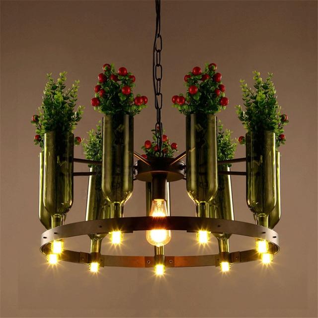 moderne pastoralen stil anh nger leuchten mit glas lampenschirm und pflanze blumentopf. Black Bedroom Furniture Sets. Home Design Ideas
