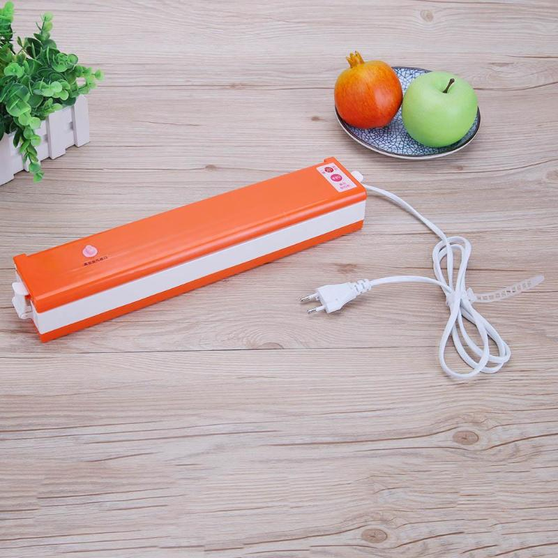 220 V/110 V Household Food Vacuum Sealer Packaging Machine Film Sealer EU(Orange) Family Kitchen Applicance