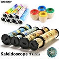 3 Kinds Rotating Kaleidoscopes Magic toy Colorful World Preschool Toys Educational Science toys Best Gifts for kids GYH