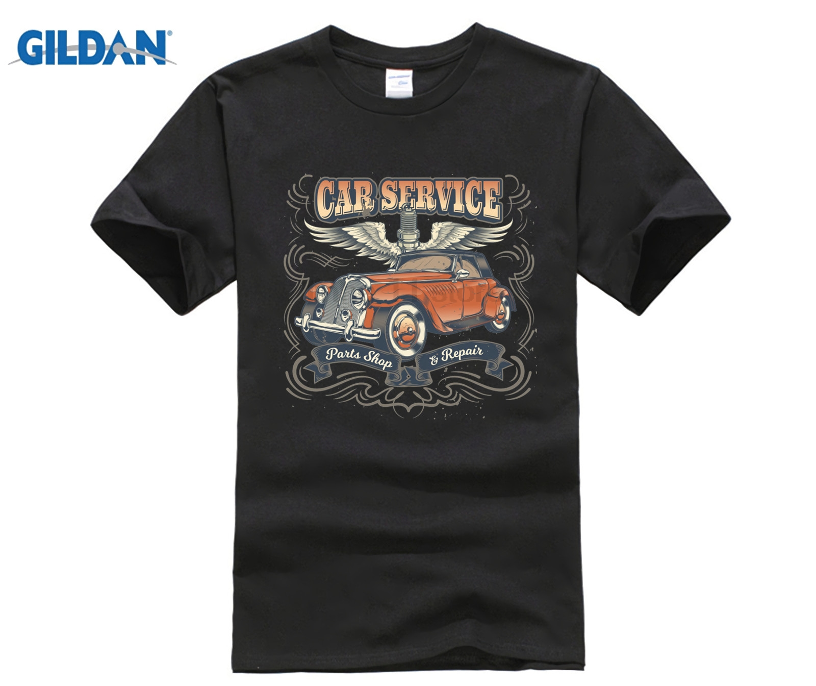GILDAN Car Service Mechanics Classic Auto T-Shirt Hot Womens T-shirt