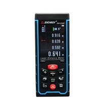 SW S100 100m Color Display Laser Distance Meter Rangefinder Tape With Bubble Level Measure Area Volume